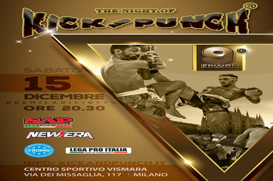 Arriva a Milano The Night of Kick and Punch 9 - Evento sportivo