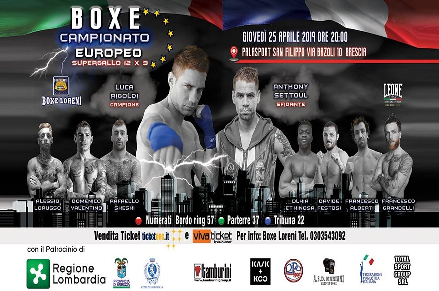 Campionato Europeo Supergallo Luca Rigoldi VS Anthony Settoul - Evento Sportivo