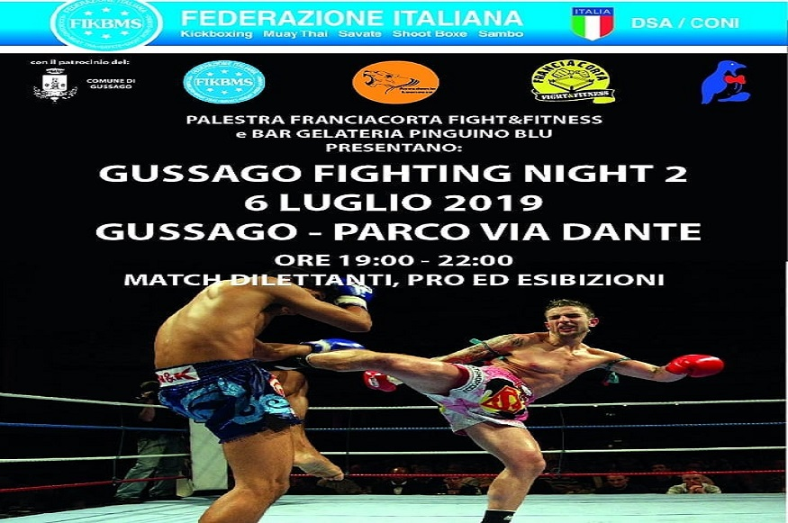 Entra in scena la 2° Edizione del Fighting Night a Gussago - Evento Sportivo