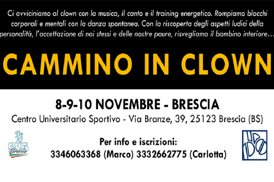 Cus Brescia presenta: Cammino in Clown - Evento Sportivo