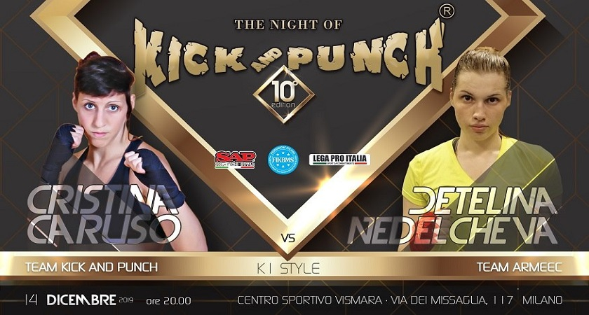 Sarà la bulgara Detelina Nedelcheva a sfidare Cristina Caruso alla Night of Kick and Punch 10 - Evento Sportivo